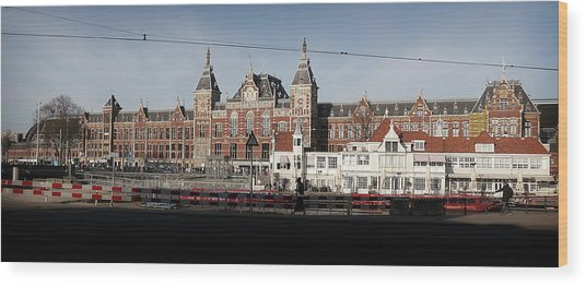 Wood Print featuring the photograph Central Train Station by Scott Hovind