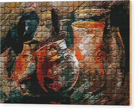 Ceramic Pots Wood Print