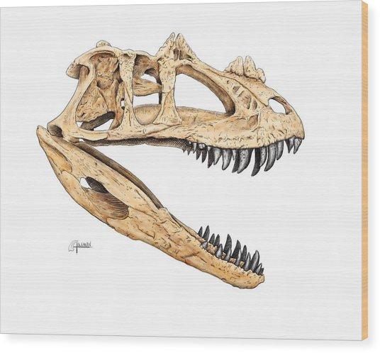 Ceratosaur Skull Wood Print