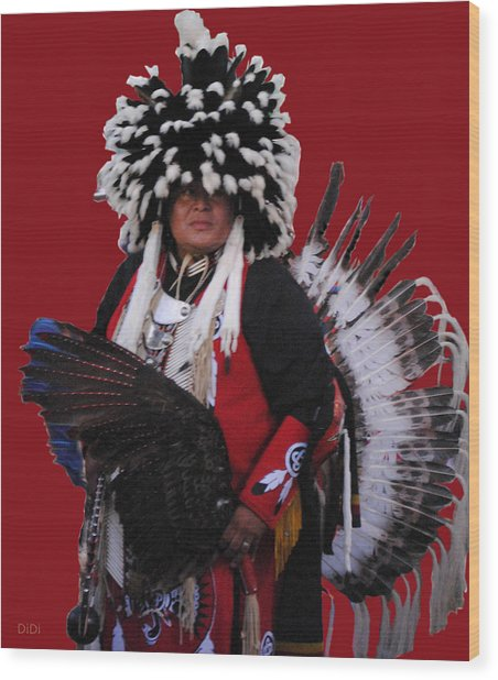 Ceremonial Dress Wood Print
