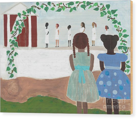 Ceremony In Sisterhood Wood Print
