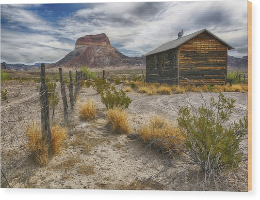 Cerro Castellan - Big Bend - Color Wood Print