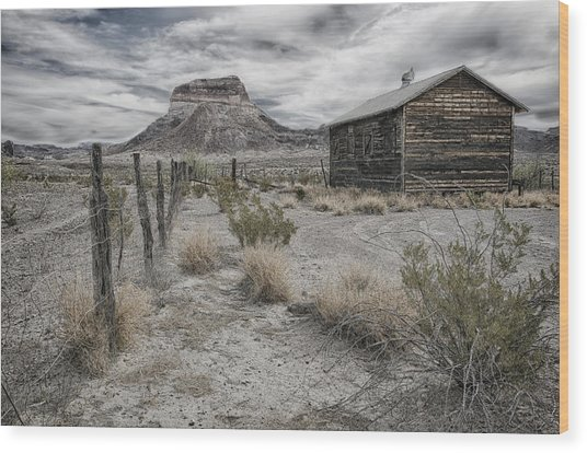 Cerro Castellan - Big Bend  Wood Print