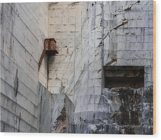 Cervaiole Quarry - Apuan Alps, Tuscany Italy Wood Print