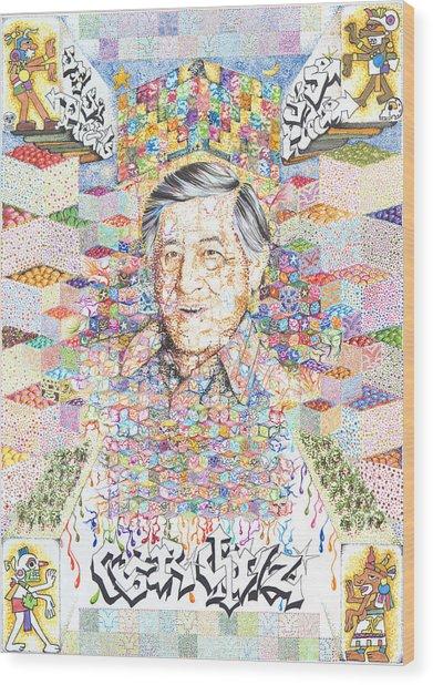 Cesar Chavez- Sombra De Arreguin Wood Print