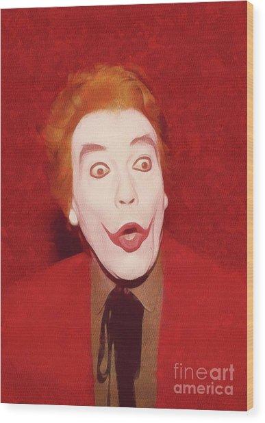 Cesar Romero The Joker Wood Print