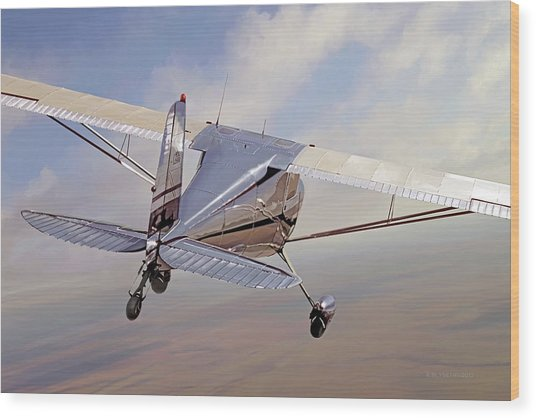 Cessna 140 Wood Print