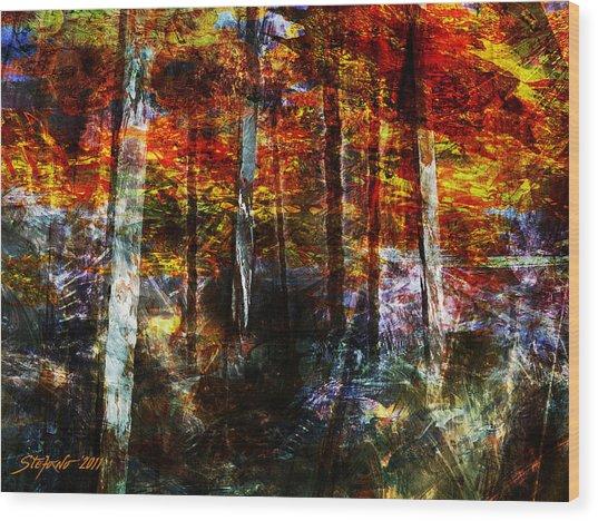 C'est L'automne Wood Print