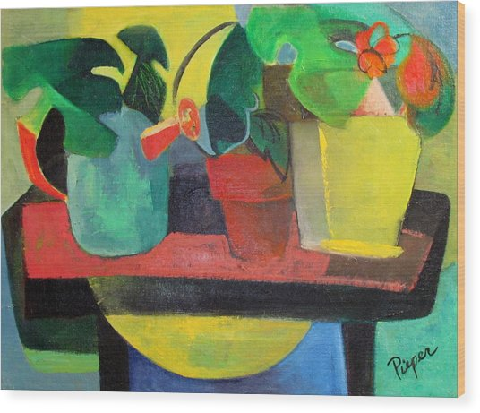 Cezanne Potting Stand Wood Print