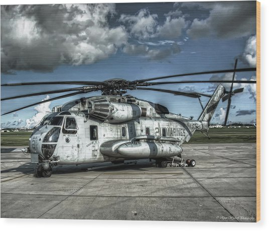 Wood Print featuring the photograph Ch-53 Super Stallion by Ryan Wyckoff