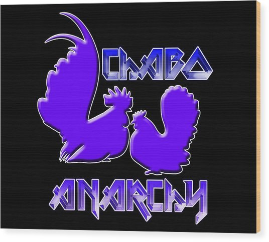 Chabo Anarchy Bluepurple Wood Print