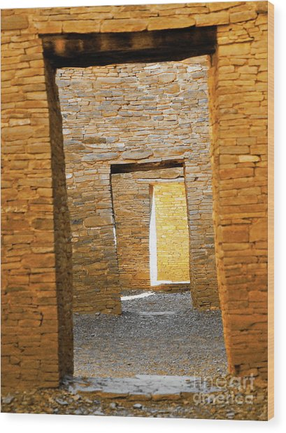 Chaco Canyon Doorways Wood Print