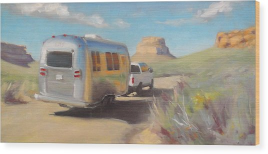 Chaco Canyon Glamping Wood Print