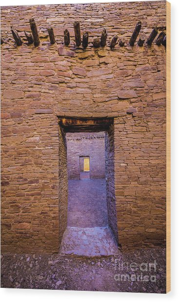 Chaco Canyon - Pueblo Bonito Doorways - New Mexico Wood Print