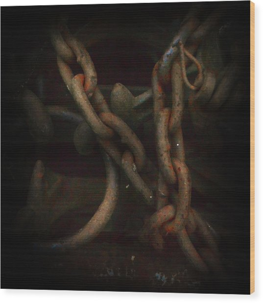 Plate 002- Chain - Metallica Series Wood Print