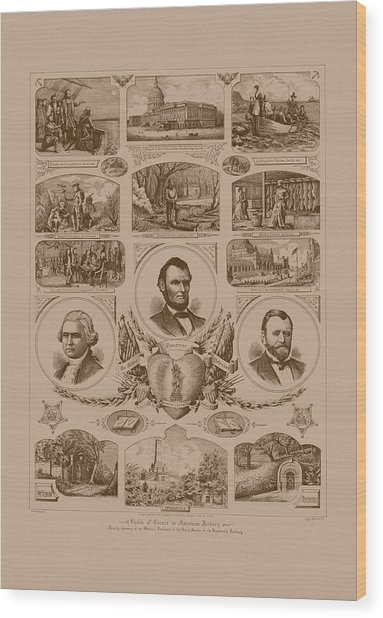 Chain Of Events In American History Wood Print