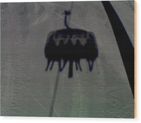 Chairlift Shadow Wood Print