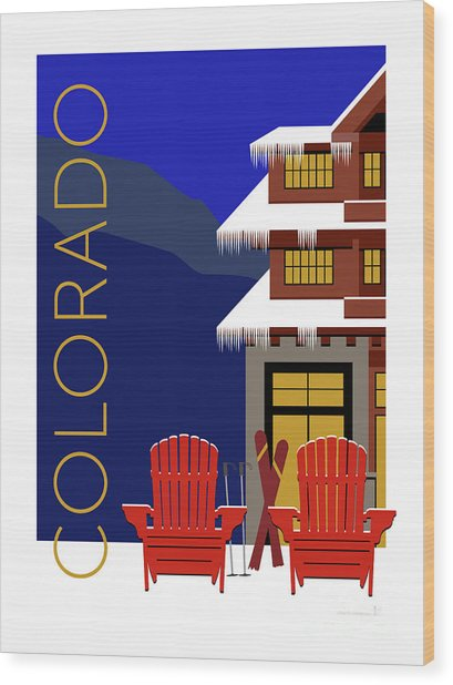 Colorado Chairs Wood Print
