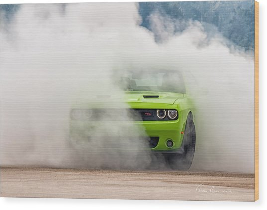 Challenger Smoke Wood Print