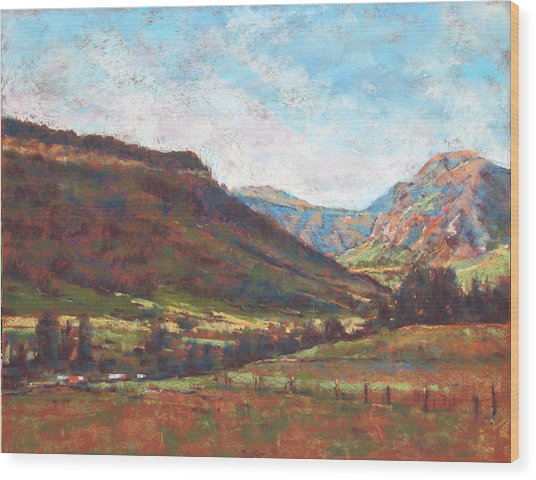 Chama Valley Light Wood Print by James Roybal