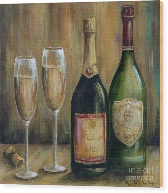 Champagne Celebration Wood Print
