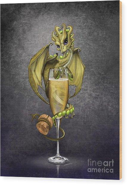 Champagne Dragon Wood Print