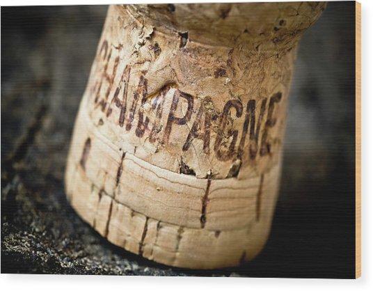 Champagne Wood Print by Frank Tschakert