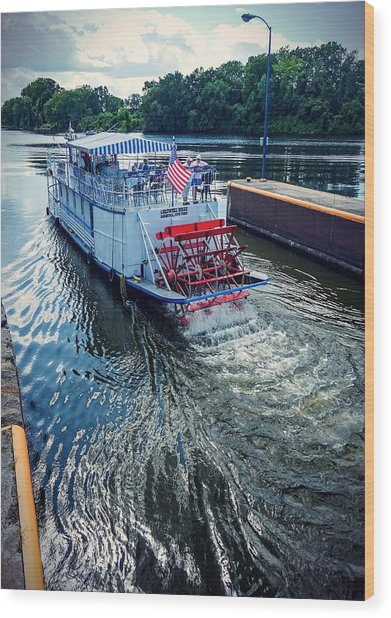 Champlain Canal Patriot Wood Print
