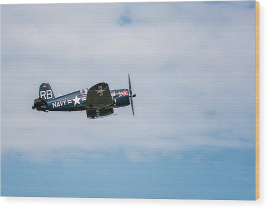 Chance Vought F4u-4 Corsair Wood Print