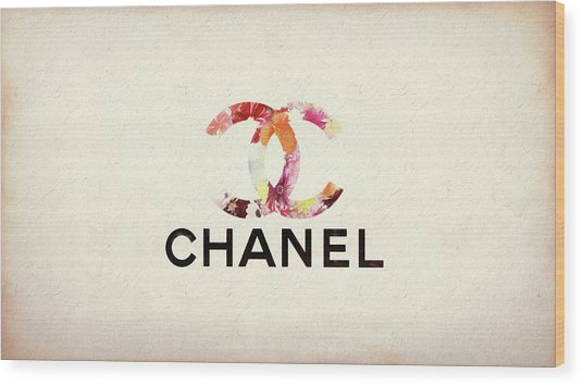 Chanel Floral Texture  Wood Print