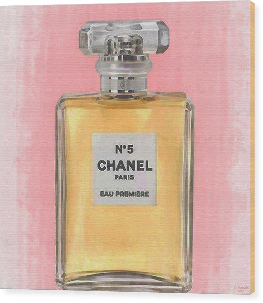 Chanel No 5 Eau De Parfum Wood Print