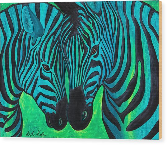 Wood Print featuring the painting Changing Stripes by Dede Koll