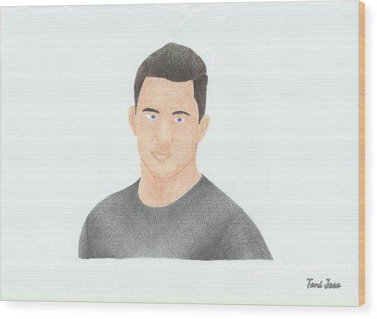 Channing Tatum Wood Print
