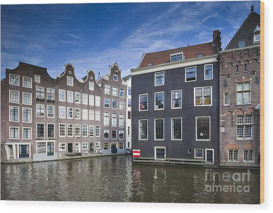 Channles Of Amsterdam Wood Print by Andre Goncalves