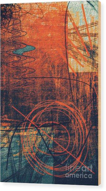 Chaos Wood Print