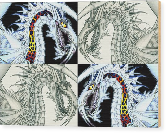 Chaos Dragon Fact Vs Fiction Wood Print
