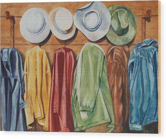 Chapeaux Lanroz Wood Print