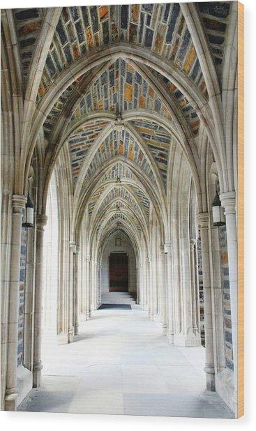 Chapel Archway Wood Print