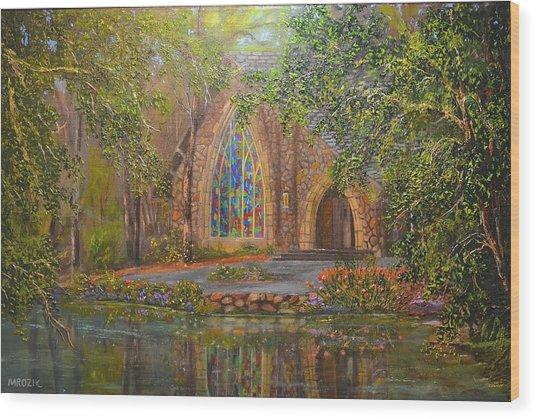 Chapel At Callaway Wood Print