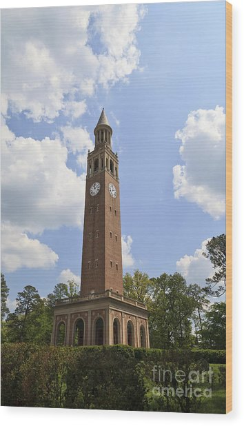 Chapel Hill Bell Tower Wood Print