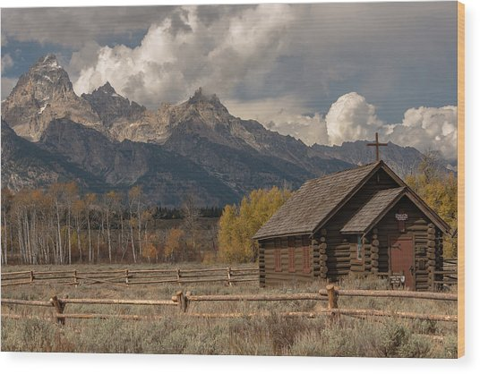 Wood Print featuring the photograph Chapel Of The Transfiguration by Chuck Jason