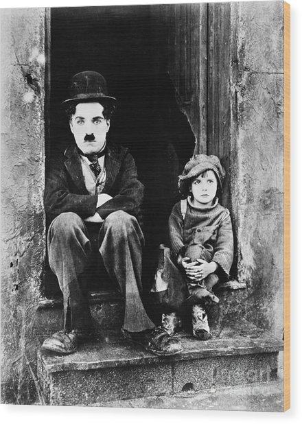 Chaplin: The Kid, 1921 Wood Print