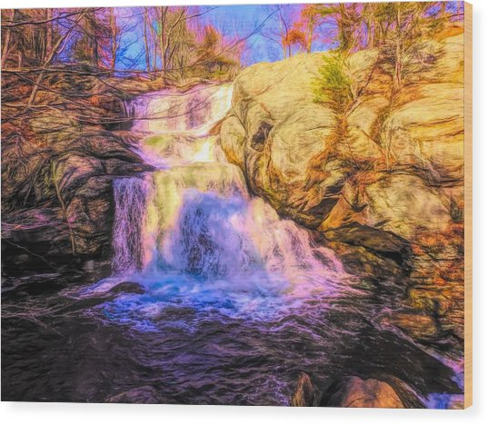 Chapman Falls Connecticut Wood Print