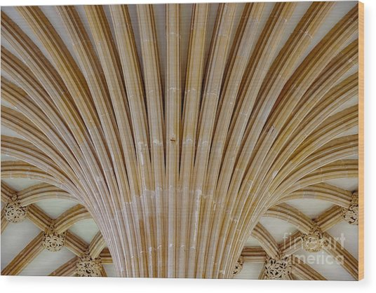 Chapter House Ceiling, Wells Cathedral. Wood Print