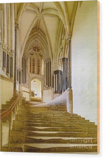 Chapter House, Wells Cathedral Wood Print