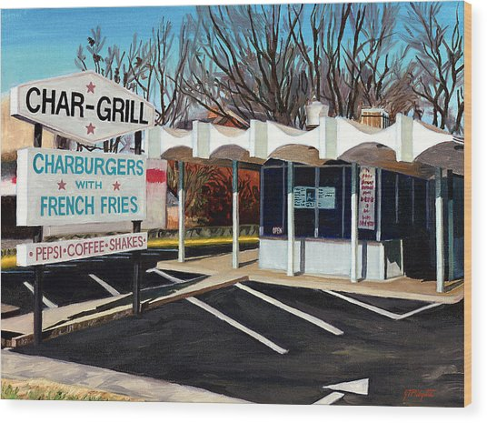 Char Grill Hillsborough St Wood Print