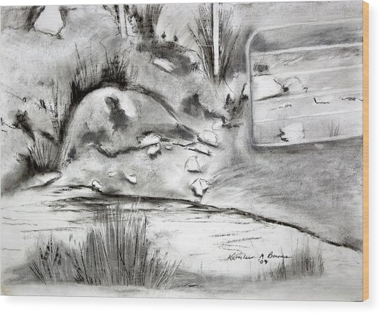 Pat's Field Wood Print