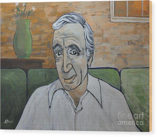 Charles Aznavour Wood Print