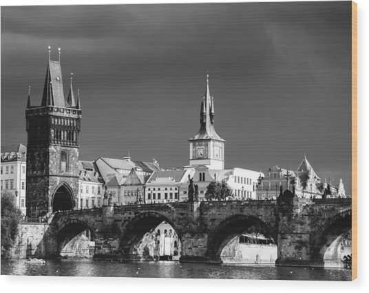 Charles Bridge Prague Czech Republic Wood Print