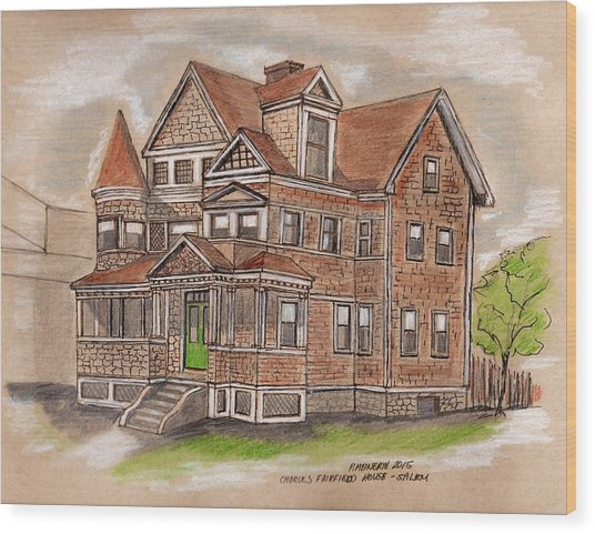 Charles Fairfield House Salem Wood Print